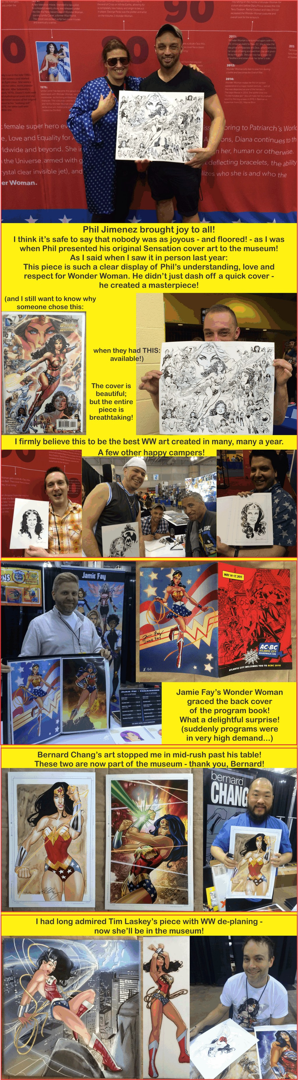 Wonder Woman Artists at AC Boardwalk Con 2015