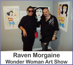 Raven Morgaine Wonder Woman Art Show on Wonder Woman Network