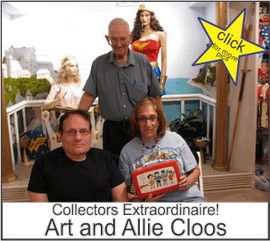 Art and Alice Cloos in the Marston Family Wonder Woman Museum