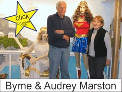 Byrne and Audrey Marston in the Marston Family Wonder Woman Museum
