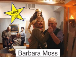 Barbara Moss in the Marston Family Wonder Woman Museum