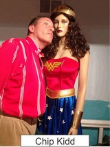 Chip Kidd in the Marston Family Wonder Woman Museum