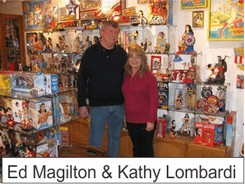 Ed and Kathy in the Marston Family Wonder Woman Museum