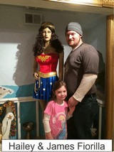 Hailey and James Fiorilla in the Marston Family Wonder Woman Museum