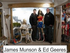 James and Ed in the Marston Family Wonder Woman Museum