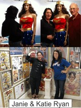 Jane and Kate Ryan in the Marston Family Wonder Woman Museum