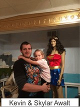 Kevin and Skylar Awalt in the Marston Family Wonder Woman Museum