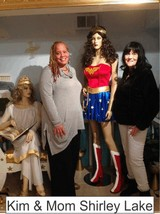 Kim and Shirley in the Marston Family Wonder Woman Museum