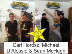 Carl Horosz Michael D'Alessio in the Marston Family Wonder Woman Museum